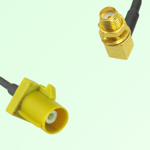 FAKRA SMB K 1027 Curry Male Plug to SMA Bulkhead Female Jack RA Cable