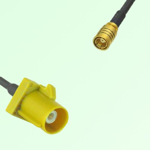 FAKRA SMB K 1027 Curry Male Plug to SMB Female Jack Cable