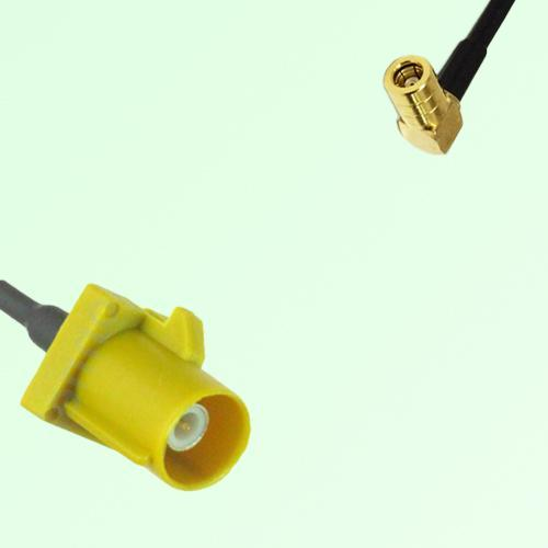 FAKRA SMB K 1027 Curry Male Plug to SMB Female Jack Right Angle Cable