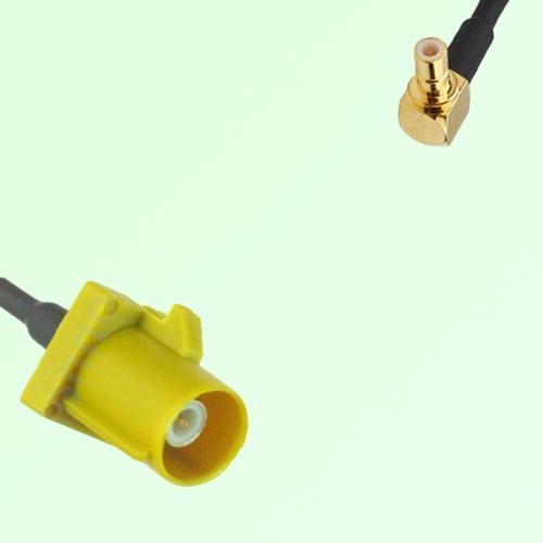 FAKRA SMB K 1027 Curry Male Plug to SMB Male Plug Right Angle Cable