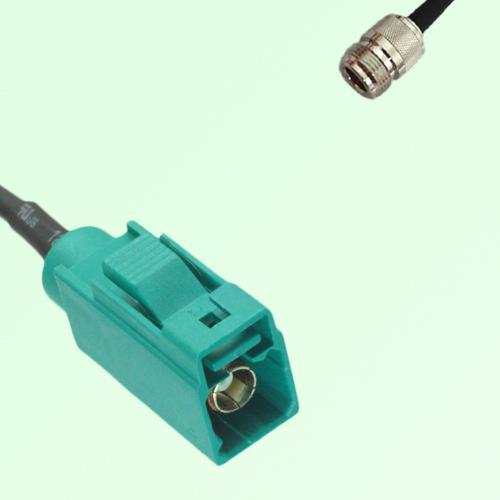 FAKRA SMB Z 5021 Water Blue Female Jack to N Female Jack Cable