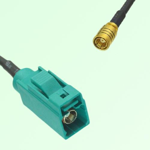 FAKRA SMB Z 5021 Water Blue Female Jack to SMB Female Jack Cable