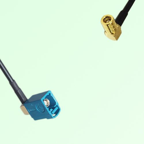 FAKRA SMB Z 5021 Water Blue Female Jack RA to SMB Female Jack RA Cable
