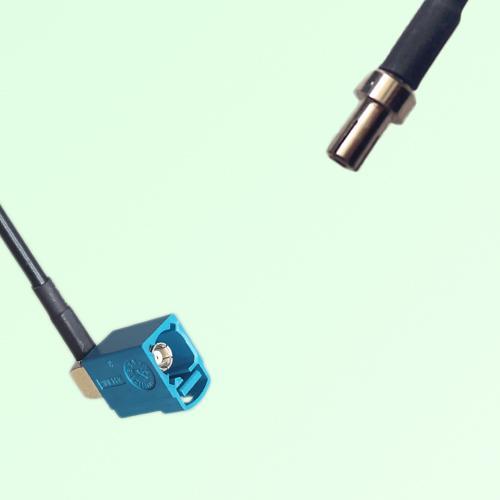 FAKRA SMB Z 5021 Water Blue Female Jack RA to TS9 Male Plug Cable