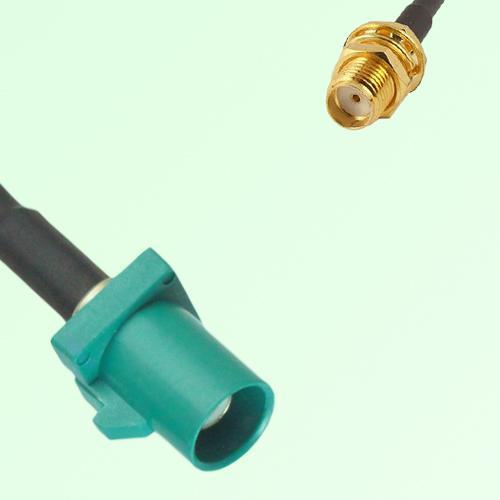 FAKRA SMB Z 5021 Water Blue Male Plug to SMA Bulkhead Female Cable
