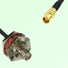 RP SMA Bulkhead Female M16 1.0mm thread to MCX Female RF Cable