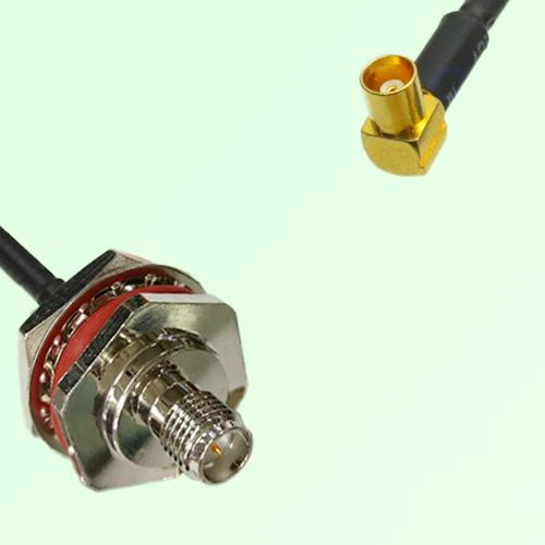 RP SMA Bulkhead Female M16 1.0mm thread to MCX Female RA RF Cable