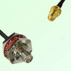 RP SMA Bulkhead Female M16 1.0mm to RP SMA Bulkhead Female RF Cable