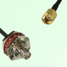 RP SMA Bulkhead Female M16 1.0mm thread to RP SMA Male RF Cable