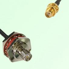 RP SMA Bulkhead Female M16 1.0mm to SMA Bulkhead Female RF Cable