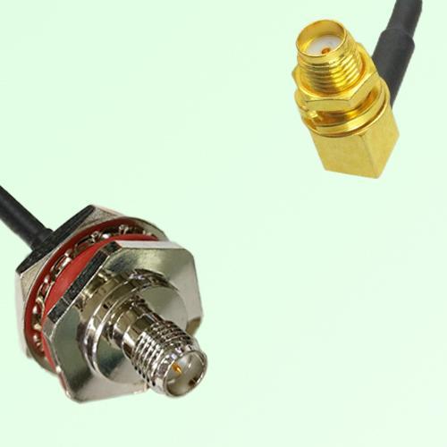 RP SMA Bulkhead Female M16 1.0mm to SMA Bulkhead Female RA RF Cable