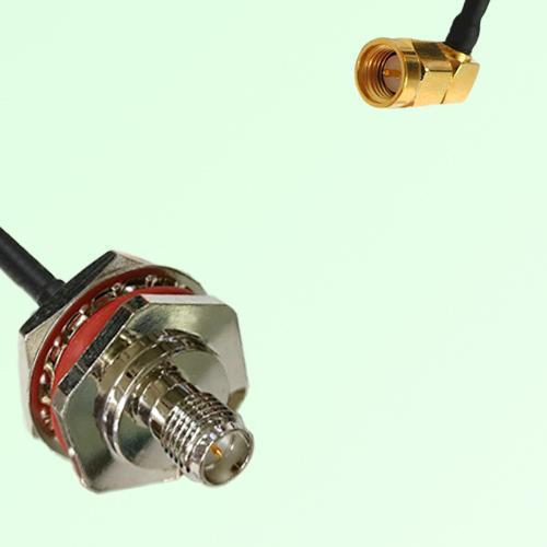 RP SMA Bulkhead Female M16 1.0mm thread to SMA Male RA RF Cable