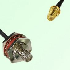 SMA Bulkhead Female M16 1.0mm to RP SMA Bulkhead Female RF Cable