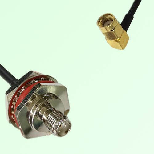 SMA Bulkhead Female M16 1.0mm thread to RP SMA Male RA RF Cable