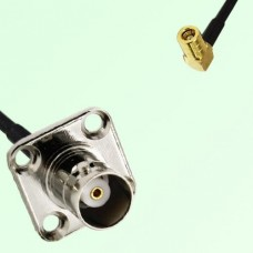 BNC Female 4 Hole Panel Mount to SMB Female RA  RF Cable Assembly