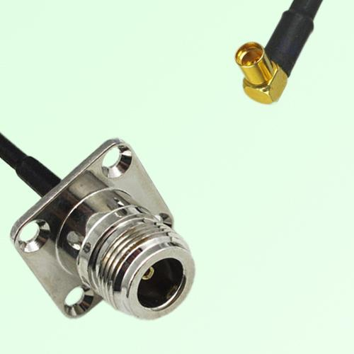 N Female 4 Hole Panel Mount to MMCX Female RA  RF Cable Assembly