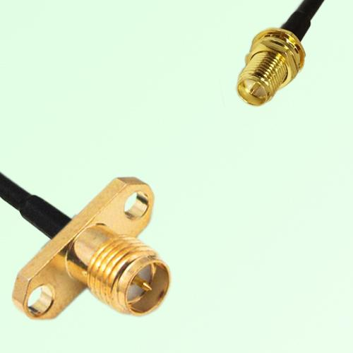 RP SMA Female Panel Mount to RP SMA Bulkhead Female  RF Cable Assembly