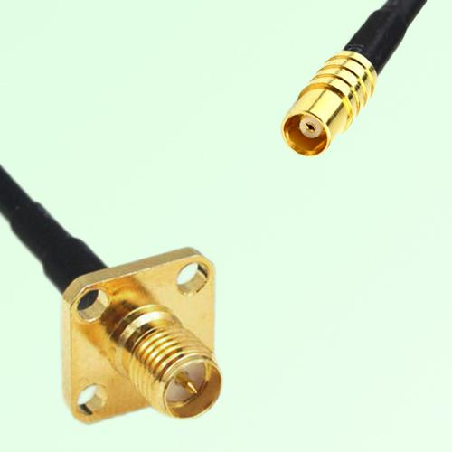 RP SMA Female 4 Hole Panel Mount to MCX Female  RF Cable Assembly