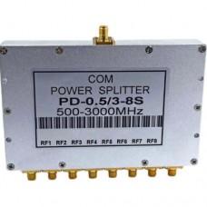 8 Way SMA Female Jack RF Power Splitter/Divider 500-3000MHz