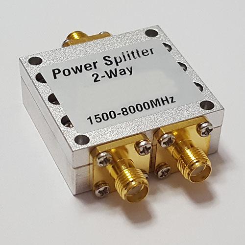 2 Way SMA Female Jack RF Power Splitter/Divider 1500-8000MHz