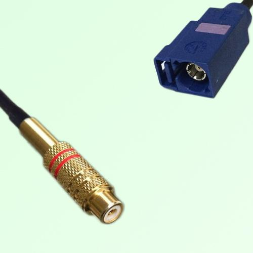 RCA Female to FAKRA SMB C Female RF Cable Assembly