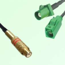 RCA Female to FAKRA SMB E Type Male and Female Y Type Cable Assembly