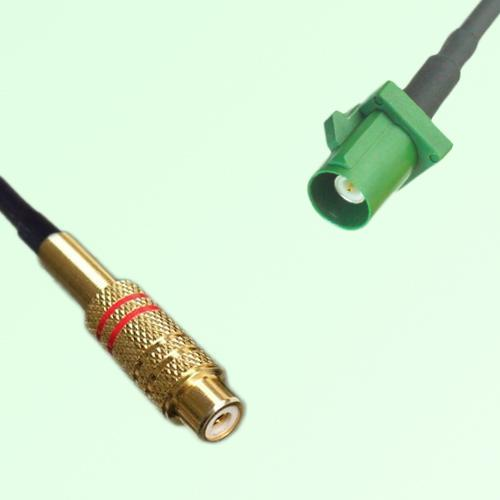 RCA Female to FAKRA SMB E Male RF Cable Assembly