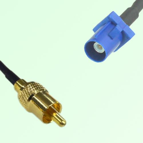 RCA Male to FAKRA SMB C Male RF Cable Assembly