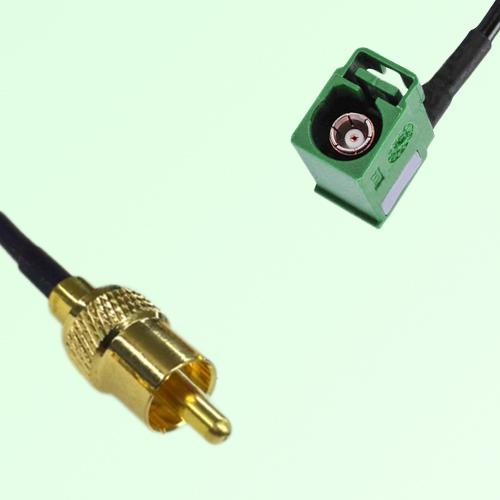 RCA Male to FAKRA SMB E Female Right Angle RF Cable Assembly