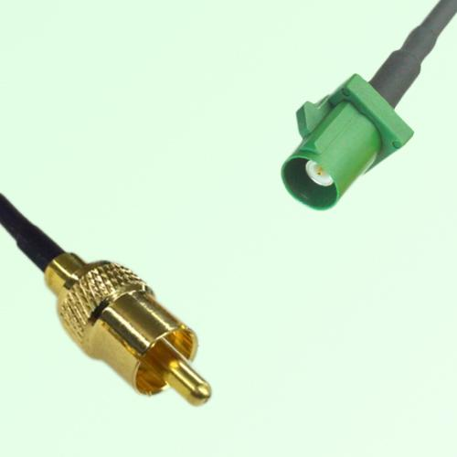 RCA Male to FAKRA SMB E Male RF Cable Assembly