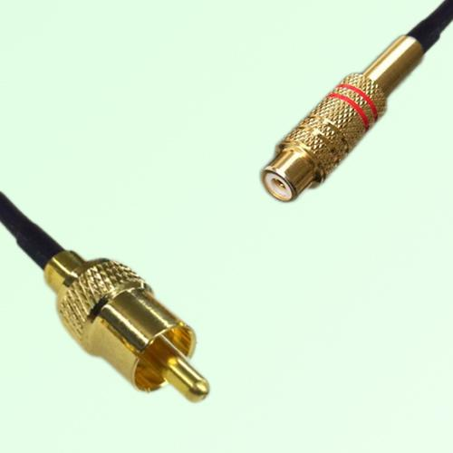 RCA Male to RCA Female RF Cable Assembly