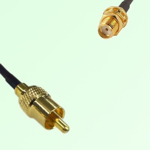 RCA Male to SMA Bulkhead Female RF Cable Assembly