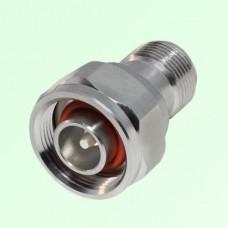 Low PIM Adapter 4.1/9.5 Mini DIN Male Plug to N Female Jack