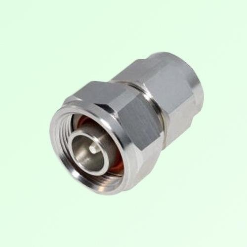 Low PIM Adapter 4.1/9.5 Mini DIN Male Plug to N Male Plug