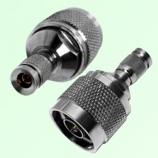 RF Adapter 1.0/2.3 DIN Male Plug to N Male Plug