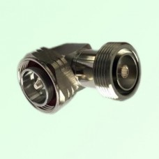 Right Angle 7/16 DIN Female Jack to 7/16 DIN Male Plug Adapter