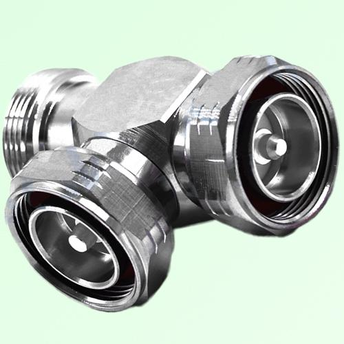 T Type 7/16 DIN Male to 7/16 DIN Female to 7/16 DIN Male Adapter