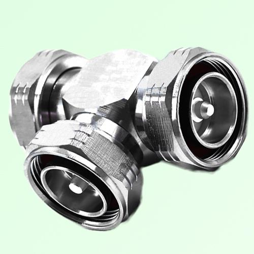 T Type Three 7/16 DIN Male Adapter 7/16 DIN to 7/16 DIN to 7/16 DIN