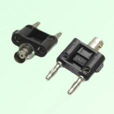Y Type BNC Female Jack to Two Banana Male Plug Adapter