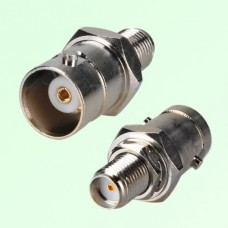 RF Adapter BNC Female Jack to SMA Bulkhead Female