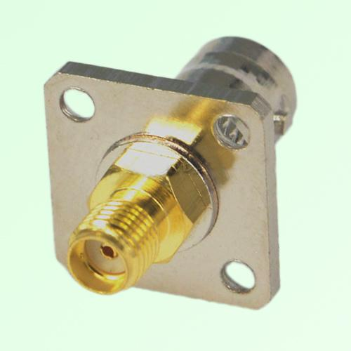4 Hole Panel Mount Bnc Female Jack To Sma Female Jack Adapter