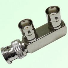 F Type BNC Male Plug to BNC Female Jack Adapter