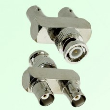 Y Type BNC Male Plug to Two BNC Female Jack Adapter