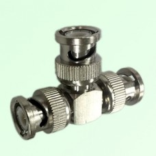 T Type Three BNC Male Plug Adapter BNC to BNC to BNC