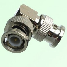 Right Angle BNC Male Plug to BNC Male Plug Adapter