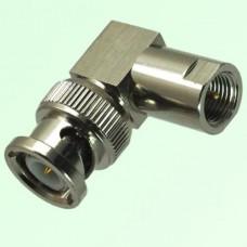 Right Angle BNC Male Plug to FME Male Plug Adapter
