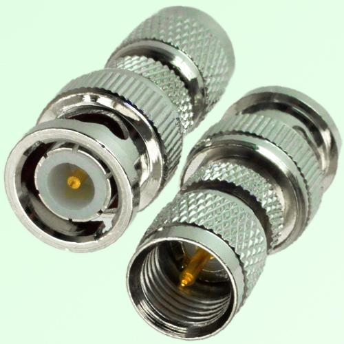 RF Adapter BNC Male Plug to Mini UHF Male Plug