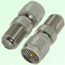 RF Adapter F Female Jack to Mini UHF Male Plug