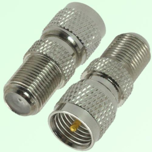 RF Adapter F Female Jack to Mini UHF Male Plug