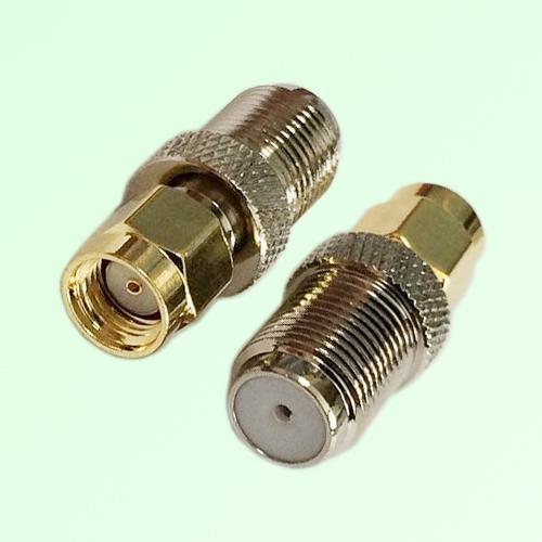 RF Adapter F Female Jack to RP SMA Male Plug
